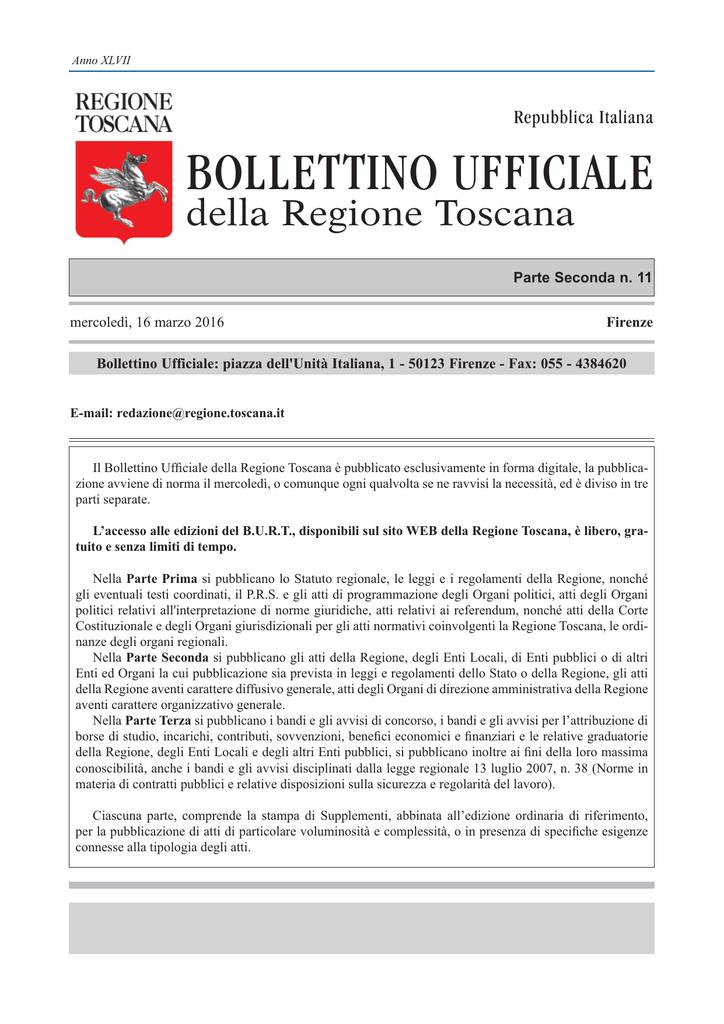 lucentezza adorabile acquisto speciale bello design N. 11 parte II - Regione Toscana