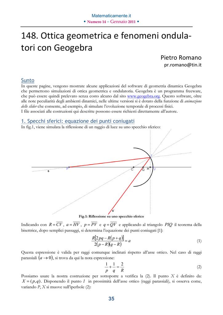 52447ff4e9 148. Ottica geometrica e fenomeni ondula- tori