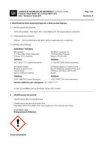 MATERIAL SAFETY DATA SHEET (according to 93/112/EEC)