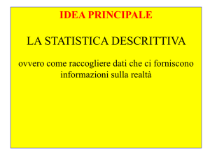 Statistica descrittiva File