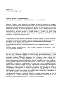 Cinema, estetica e intermedialità