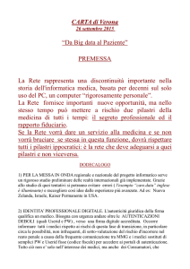 "CARTA di Verona ""Da Big data al Paziente"""