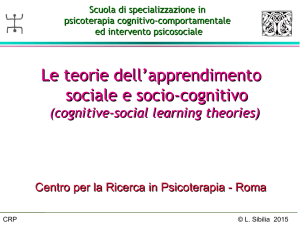 Cognitive social learning theories