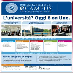 L`università? Oggi è on line.