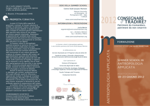 Centro Studi Jacques Maritain, Summer School in Antropologia