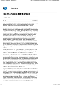 I sonnambuli dell`Europa - Repubblica.it