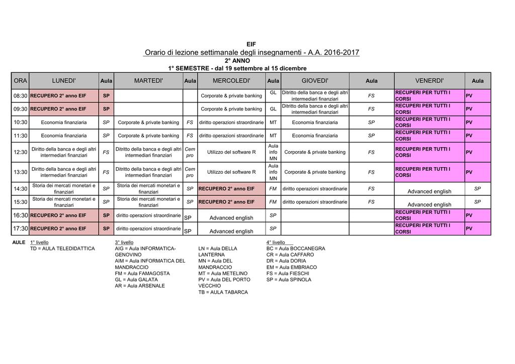 Calendario Esami Unige.Secondo Anno Economia Unige
