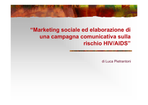 Marketing sociale ed elaborazione di una