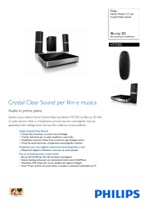 HTS7202/12 Philips Home Theater 2.1 con Crystal Clear Sound