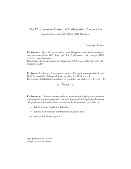 The 7th Romanian Master of Mathematics Competition