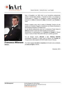 Francesco Milanese - In Art Management