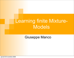 Learning finite Mixture-Model of Multinomial distributions