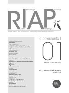 Supplemento 1 - Rivista di immunologia e allergologia pediatrica