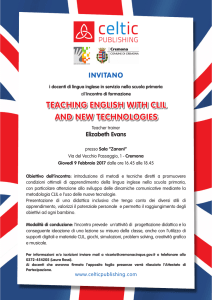 TEACHING ENGLISH WITH CLIL AND NEW TECHNOLOGIES