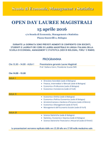 OPEN DAY LAUREE MAGISTRALI