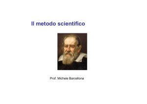 Il metodo scientifico - NonSoloFisica.altervista.org