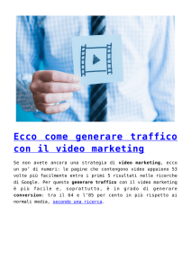 Ecco come generare traffico con il video marketing