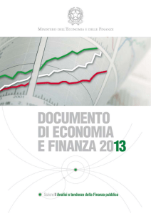 DOCUMENTO DI ECONOMIA E FINANZE 2013