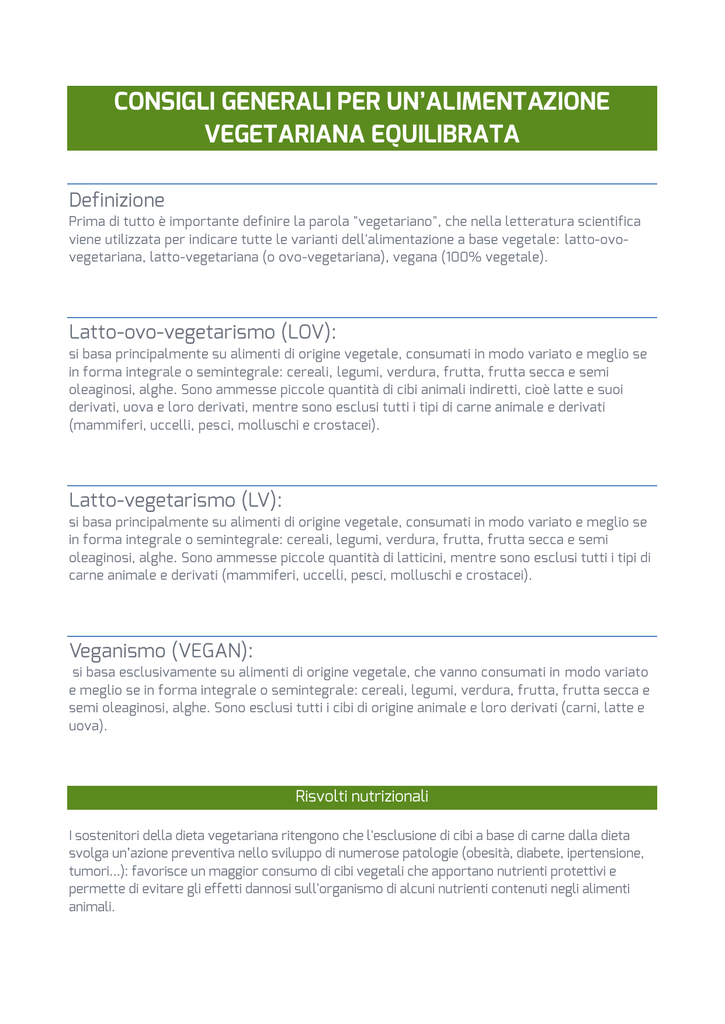 Dieta vegetariana equilibrata pdf
