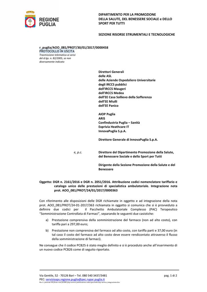 Nota Regionale Aoo 081 Del 30 Gen 2017