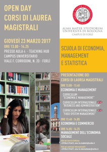 open day corsi di laurea magistrali