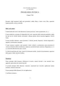 Fisica - Liceo Scientifico Guido Castelnuovo