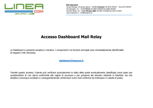 Accesso Dashboard Mail Relay