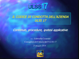 Contenuti, procedure, ipotesi applicative