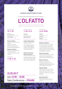 22.05.2017 ore 10.00 - 18.00 Sala Conferenze – PRABB