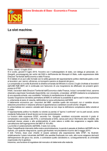 La slot machine. - Economia e Finanze