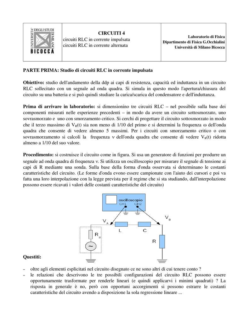condensatore rlc