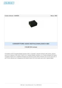 CONVERTITORE AUDIO DIGITALE/ANALOGICO GBC
