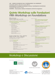 Quinto Workshop - Centri di Ricerca