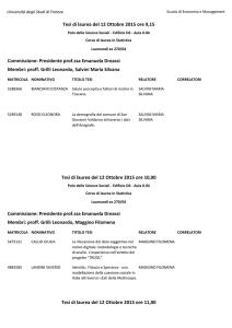 Calendario Unifi.Calendario Tesi Statistica Economia Unifi