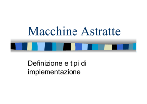 Macchine Astratte - UniCam - Computer Science Division