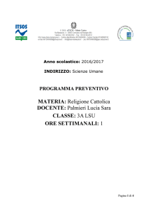 religione cattolica/attivitá alternative
