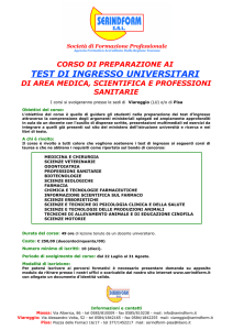 TEST DI INGRESSO UNIVERSITARI