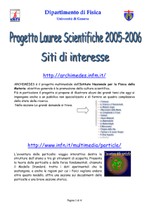 lauree scientifiche - siti scientifici