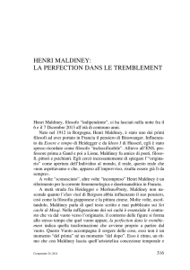 henri maldiney: la perfection dans le tremblement