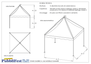 vista in pianta STAND GAZEBO m. 5x5 MODELLO SUMMER vista