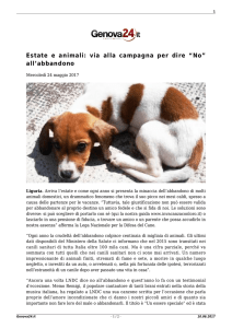 "Estate e animali: via alla campagna per dire ""No"" all`abbandono"