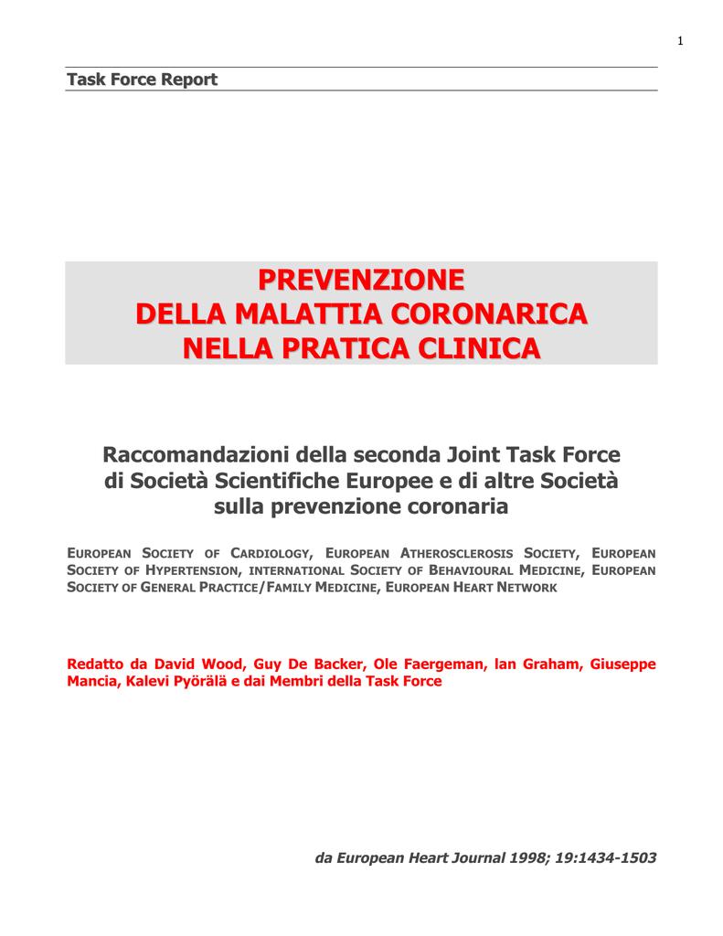 raccomandazioni dietetiche per la prevenzione delle iperlipidemie