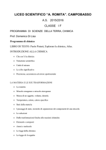 scienze 1 f - Liceo Scientifico