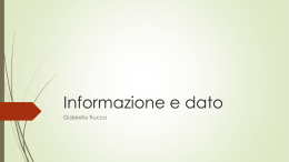Informazione e dato - Home di homes.di.unimi.it
