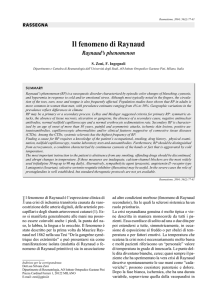Il fenomeno di Raynaud