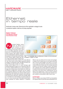 Ethernet in tempo reale