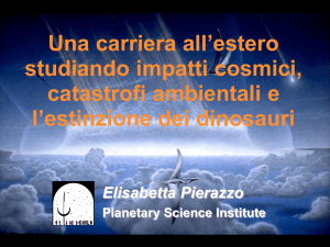Una carriera all`estero studiando impatti cosmici, catastrofi