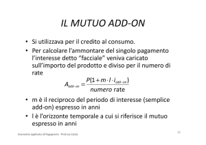 IL MUTUO ADD-ON