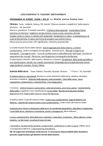 GROTTAFERRATA PROGRAMMA DI SCIENZE