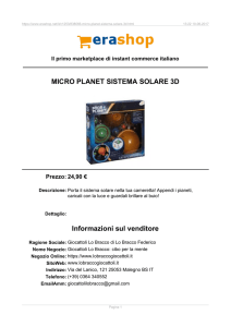 Erashop MarketPlace - MICRO PLANET SISTEMA SOLARE 3D